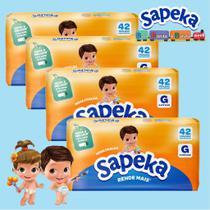 Kit Fralda Descartáveis SAPEKA - GD - 168 Unids - Leve 4 / Pague 3 - Ontex