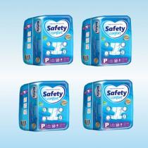 Kit Fralda Geriátrica Safety Confort Tam P c/ 10 un - 40 un - PREÇO DE ATACADO! -