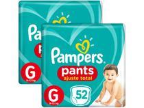 Kit Fralda Pampers Ajuste Total Pants - Calça Tam. G 9 a 13kg 104 Unidades