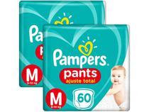 Kit Fralda Pampers Ajuste Total Pants - Calça Tam. M 6 a 10kg 120 Unidades