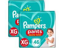Kit Fralda Pampers Ajuste Total Pants - Calça Tam. XG 11 a 15kg 92 Unidades