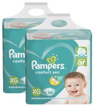 Kit Fralda Pampers Confort Sec Nova Super Tamanho XG 116 Unidades -