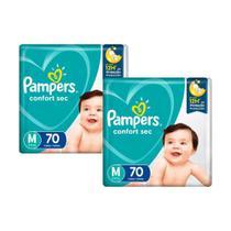 Kit Fralda Pampers Confort Sec Super Tamanho M 140 Tiras -
