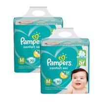 Kit Fralda Pampers Confort Sec Super Tamanho M 140 unidades -