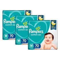 Kit Fralda Pampers Confort Sec Super Tamanho M 210 unidades -