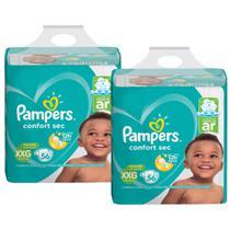 Kit Fralda Pampers Confort Sec Super Tamanho XXG 112 Tiras -