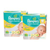Kit  Fralda Pampers Extra Suave RN Plus 40 uni. 3 á 6kg