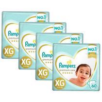Kit Fralda Pampers Premium Care Jumbo Tamanho XG 240 Unidades -