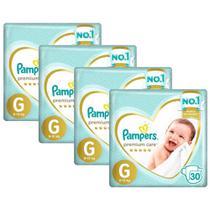 Kit Fralda Pampers Premium Care Mega Tamanho G 120 Unidades -