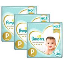Kit Fralda Pampers Premium Care Mega Tamanho P 120 Unidades -
