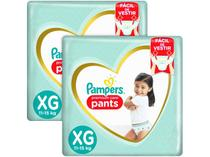 Kit Fralda Pampers Premium Care Pants - Calça Tam. XG 11 a 15kg 128 Unidades