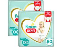 Kit Fralda Pampers Premium Care Pants - Calça Tam. XXG 14 a 25kg 120 Unidades