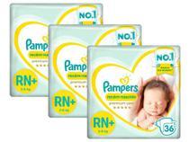 Kit Fralda Pampers Premium Care Recém Nascido Plus com 108 unidades - 3 à 6 Kg -