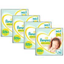 Kit Fralda Pampers Premium Care Recém Nascido Plus com 144 unidades - 3 à 6 Kg -