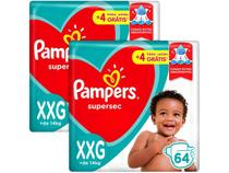Kit Fralda Pampers Supersec Noturno - Tam. XXG + de 14kg 128 Unidades