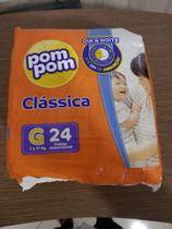 Kit Fralda Pompom Protek Tam G com 6 unidades -
