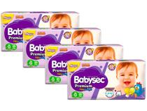 Kit Fraldas Babysec Premium Galinha Pintadinha - Tam. G 8,5 a 12kg 4 Pacotes com 30 Unidades Cada