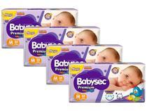 Kit Fraldas Babysec Premium Galinha Pintadinha - Tam. M 5 a 9,5kg 4 Pacotes com 34 Unidades Cada