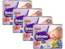 Kit Fraldas Babysec Premium Galinha Pintadinha - Tam. P até 6kg 4 Pacotes com 20 Unidades Cada