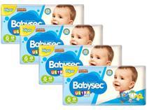 Kit Fraldas Babysec Ultrasec Galinha Pintadinha - Tam. G 8,5 a 12kg 4 Pacotes com 68 Unidades Cada