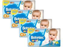Kit Fraldas Babysec Ultrasec Galinha Pintadinha - Tam. M 5 a 9,5kg 4 Pacotes com 80 Unidades Cada