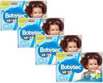 Kit Fraldas Babysec Ultrasec Galinha Pintadinha - Tam. XXG a partir de 13kg 4 Pacotes 30 Unid. cada - Baby Sec
