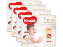 Kit Fraldas Huggies Premium Puro e Natural - Tam. XXG 14 a 18kg 4 Pacotes com 24 Unidades Cada