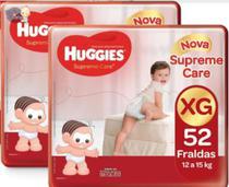 Kit Fraldas Huggies Supreme Care Hiper XG - 104 Tiras -