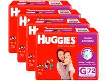 Kit Fraldas Huggies Supreme Care Roupinha Calça - Tam. G 9kg a 12,5kg 4 Pacotes com 72 Unid Cada
