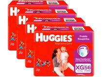 Kit Fraldas Huggies Supreme Care Roupinha Calça - Tam. XG 12kg a 15kg 4 Pacotes com 56 Unid Cada