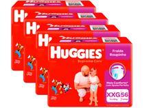 Kit Fraldas Huggies Supreme Care Roupinha Calça - Tam. XXG Mais de 14kg 4 Pacotes com 56 Unid Cada