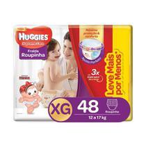 Kit Fraldas Huggies Supreme Care Roupinha XG com 144 Unidades -