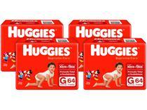 Kit Fraldas Huggies Supreme Care - Tam. G 9 a 12,5kg 4 Pacotes com 64 Unidades Cada