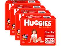 Kit Fraldas Huggies Supreme Care - Tam. XG 12 a 15kg 4 Pacotes com 52 Unidades Cada