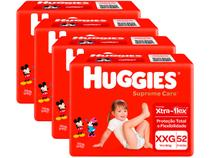 Kit Fraldas Huggies Supreme Care - Tam. XXG 14 a 18kg 4 Pacotes com 52 Unidades Cada