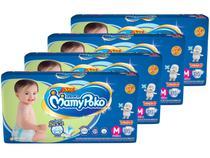 Kit Fraldas MamyPoko Fralda-Fita Tam. M - 7 a 10kg 4 Pacotes com 34 Unidades Cada