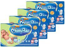 Kit Fraldas MamyPoko Fralda-Fita Tam. RN - 5kg 4 Pacotes com 36 Unidades Cada