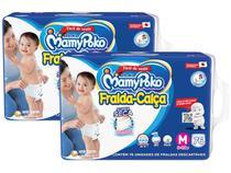 Kit Fraldas MamyPoko Super Calça Tam. M - 6 a 10kg 2 Pacotes com 76 Unidades Cada