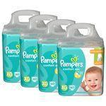 KIT FRALDAS PAMPERS CONFORT SEC GIGA PACK XG - 240 unidades