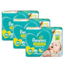 Kit Fraldas Pampers Confort Sec RN Plus com 108 Unidades