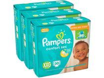 Kit Fraldas Pampers Confort Sec Tam. XXG - Extra Sec Pods 3 Pacotes com 30 Unidades Cada
