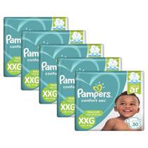 Kit Fraldas Pampers Confort Sec XXG com 150 unidades -