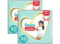 Kit Fraldas Pampers Premium Care Pants - Calça Tam. XG 11 a 15kg 2 Pacotes com 64 Unid Cada