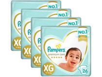 Kit Fraldas Pampers Premium Care Tam. XG  - 11 a 15Kg 26 Unidades Cada 4 Pacotes