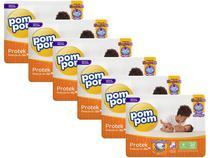 Kit Fraldas Pom Pom Protek Proteção de Mãe - Tam. P 3 a 6kg 6 Pacotes com 20 Unidades Cada