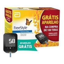 Kit Freestyle Optium Neo 100 Tiras + Glicosimetro -