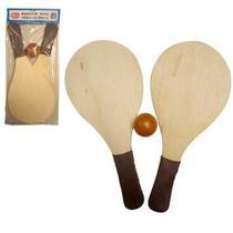 Kit frescobol - 2 Raquetes + 1 Bola - Zein