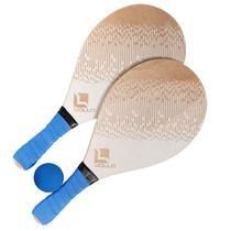 Kit Frescobol 2 Raquetes e 1 Bolinha Tênis de Praia Vollo -