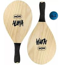 Kit Frescobol De Praia Com 2 Raquetes e1 Bola - Mor -