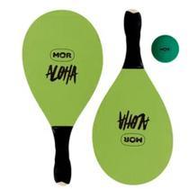 Kit Frescobol De Praia Com 2 Raquetes e1 Bola Verde - Mor -